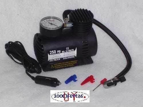 mini compresor inflador 12 v para auto o camping