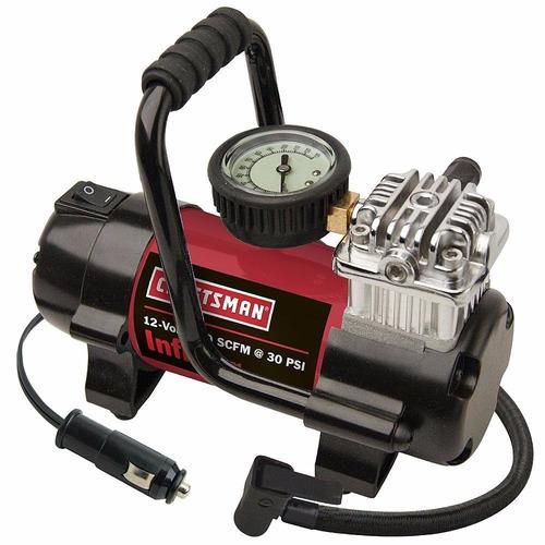 mini compresora de aire portatil craftsman red 120v - 30psi