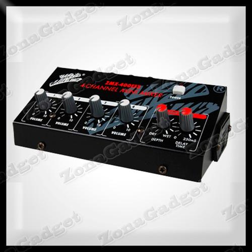 mini mixer zebra 4 canales y efectos zmx-400efx