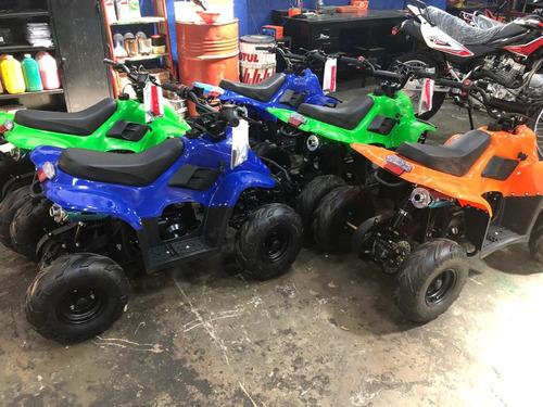 mini moto 2 t cuatri p/ niño con casco y proteccion 36 ctas