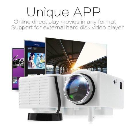 mini proyector 1080hp led tv hdmi uc28+ white
