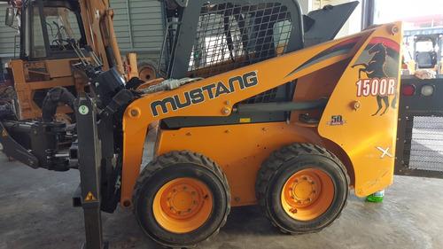 minicargador mustang r1500, 50 hp, con 1.200 hs, como nuevo