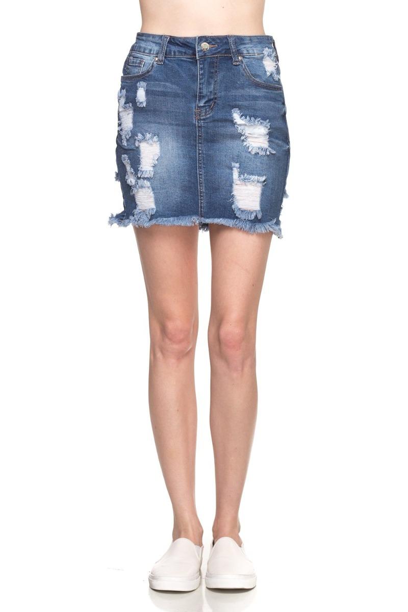 e96aac5c7 Minifalda Denis Jean Disfraz De Calilogo Para Mujer (gran