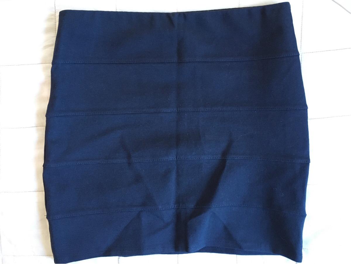 5ffae8483 Minifalda Negra Elastizada Zara