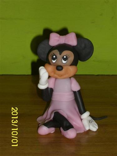 minnie mouse adornos para tortas en porcelana fría