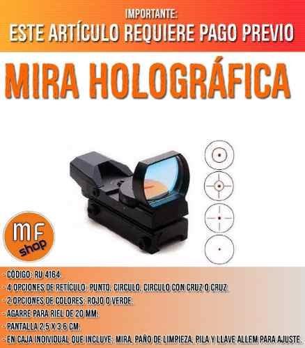 mira holografica tipo telescopica caza 4 reticulos mf shop