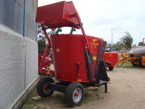 mixer fimaks 3 m3 - picador de fardos maquinaria agrícola