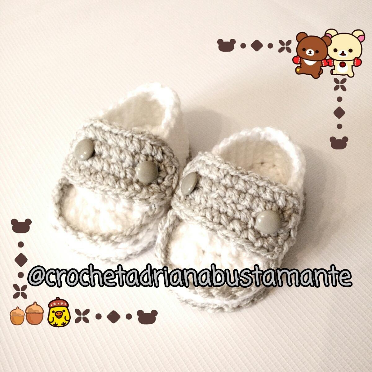 Mocasines Bebés Crochet Tejidos - $ 250.00 en Mercado Libre