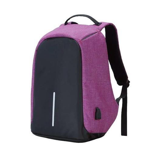 mochila anti robo con usb novedad colores super oferta