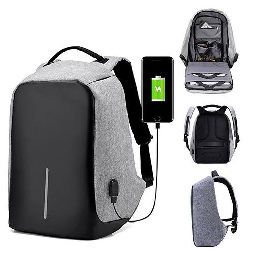mochila antirrobo impermeable con cable de carga usb calidad