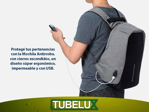 mochila antirrobo inteligente porta notebook impermeable