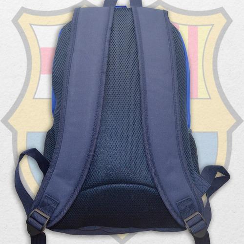 mochila barcelona fc bolso azul mediana para niño adulto