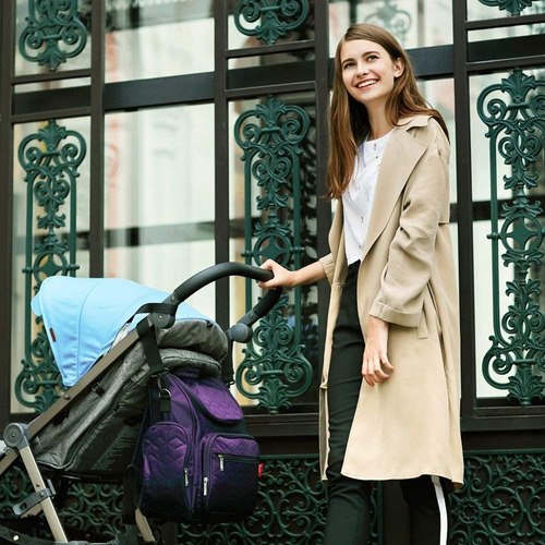 mochila bolso maternal mama bebe insular + cambiador ! ®