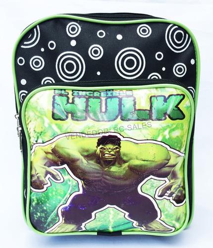 mochila escolar infantil o incrível hulk pequena