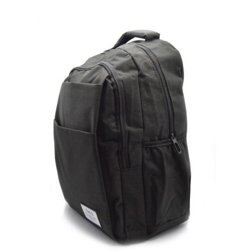 mochila office hombre o mujer para notebook gris o negra