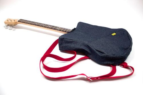 mochila para guitarra loog - denim