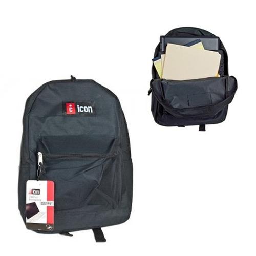 mochila para notebook 15.6  icon bkph731-blk black