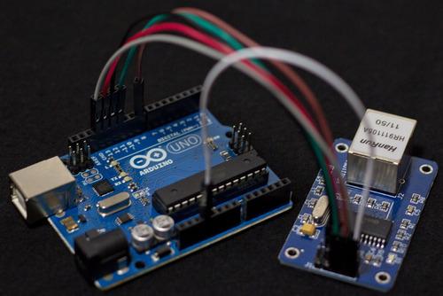 modulo ethernet enc28j60 compatible shield arduino pic avr
