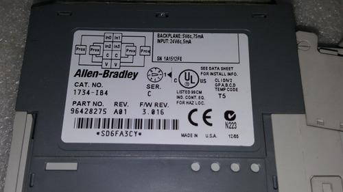 modulo plc point i/o 1734-ib4 con base power industrial