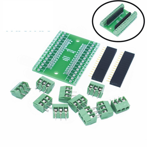 modulo shield nano con terminales tornillo arduino