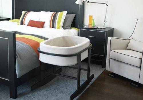 moises mecedor con canasta y colchón, cuna moderna