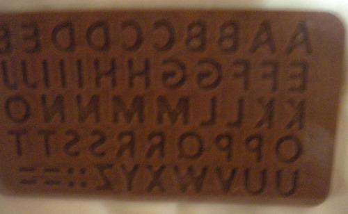 molde de silicón letras de alfabeto mayúsculas
