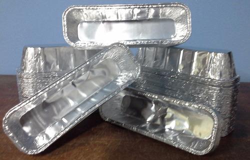 moldes budin ingles aluminio medio kilo - 100u - pedilas ya!