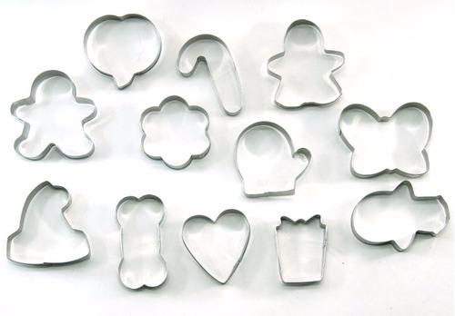 moldes cortantes galletas metálico 12 unidades - tvirtual