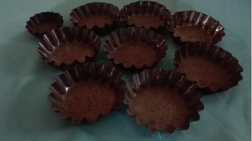 moldes metalicos para hornear canastos de copetin lote