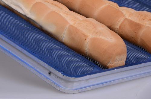 moldes para panadería - bandejas lisas y perforadas - carros