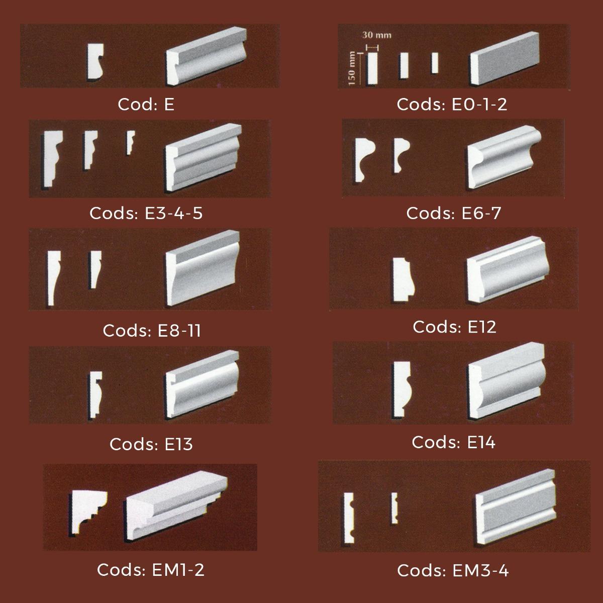 Molduras Para Exterior. Marco E7 (4,7 X 12 Cm) - $ 241,00 en Mercado ...