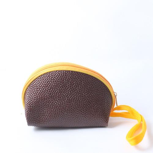 monedero liso oval con cierre