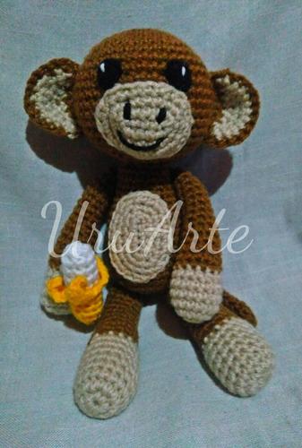 mono monito peluche muñeco amigurumi niño niña bebe infantil