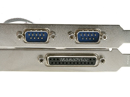monoprice pci express 2x dual rs 232 serial port and 1x