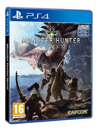 monster hunter world juego ps4 nuevo sellado playstation pro