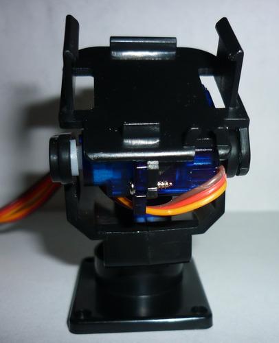 montaje para servos y cámara compatible con arduino pic avr