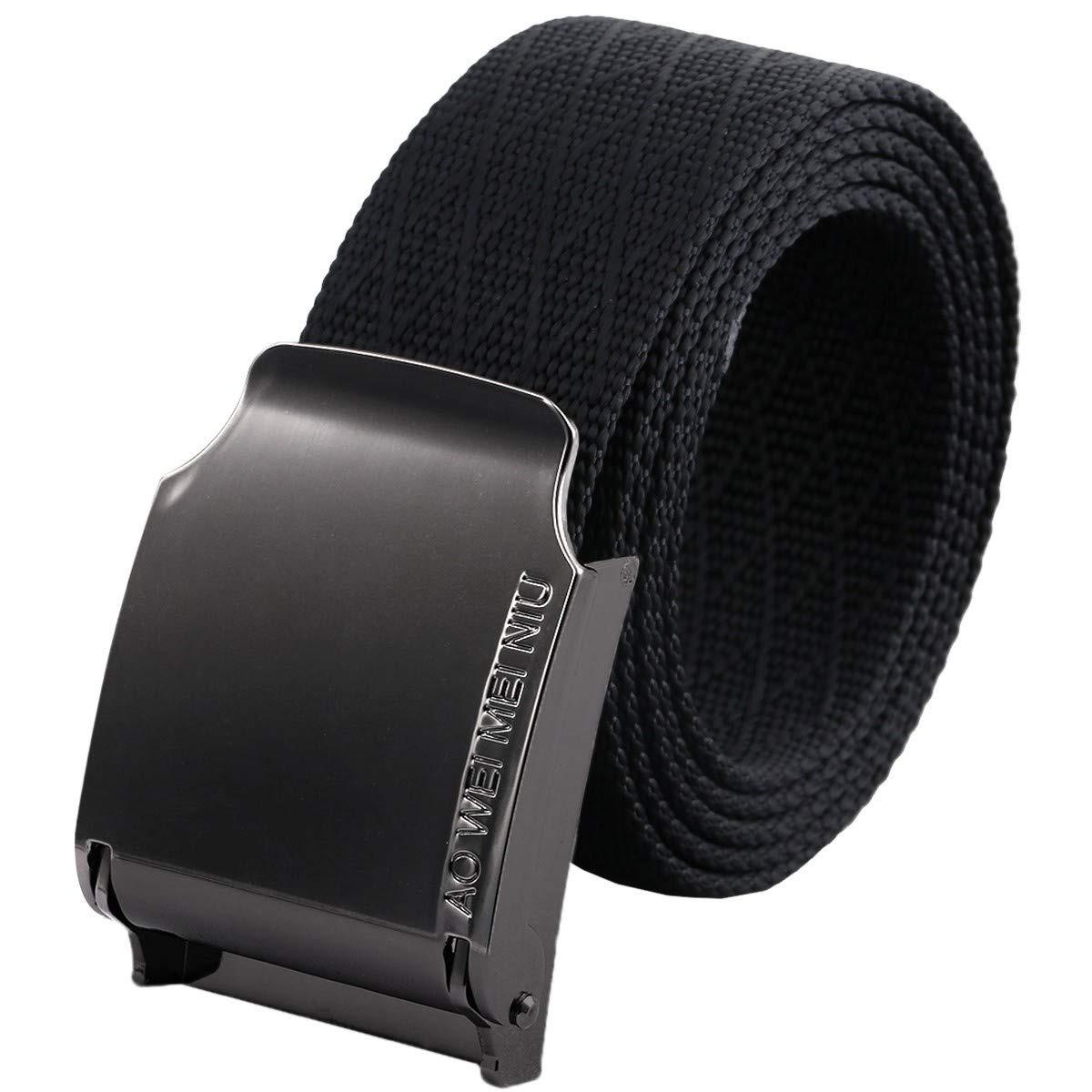 diseño de calidad 86db3 604ee Moonsix Web Nylon Cinturones Para Hombres, Color Sólido E