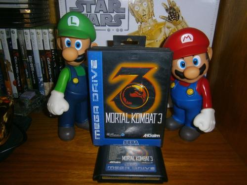 mortal kombat 3 con caja manuales impecable megadrive