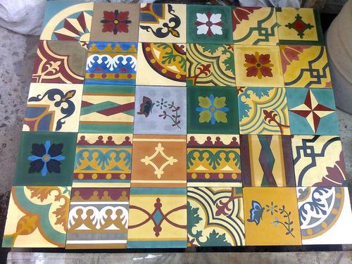 mosaicos calcáreos dibujo y lisos. directo de fábrica