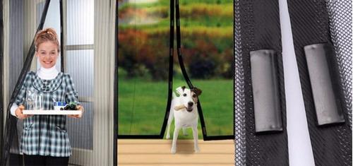 mosquitero cortina magnética + mosquitero bebe - sondecasa