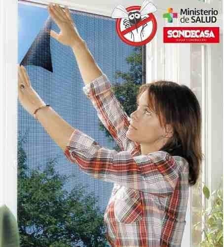 mosquiteros pack 2  velcro sondecasa p/ventana 1,80x1,50m