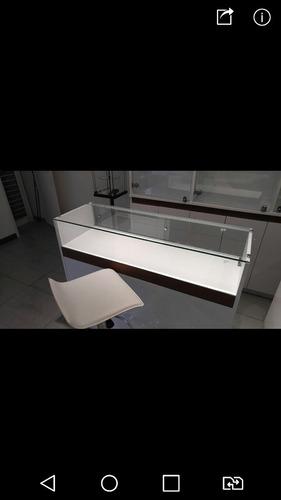 mostrador exhibidor vitrina ideal joyeria ( 2 unidades )
