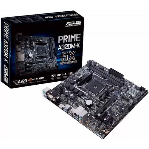 motherboard asus a320m-k amd ryzen hdmi 4k socket am4