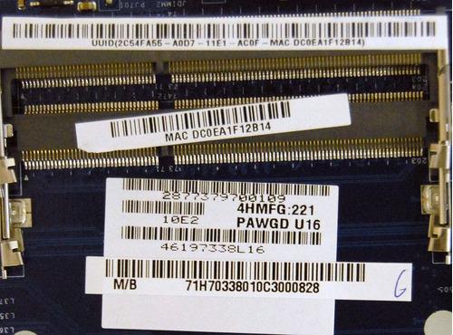 motherboard lenovo g575 g570 amd pawgd la-6757p 11013934