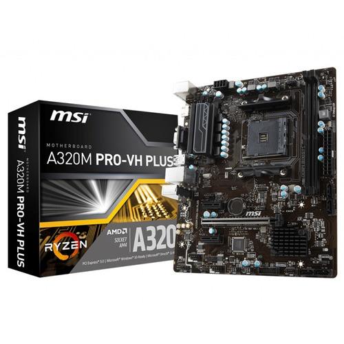motherboard msi a320m pro-vh plus ryzen hdmi 4k socket am4