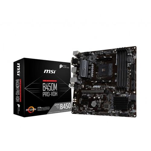 motherboard msi b450m pro-vdh amd ryzen hdmi 4k socket am4