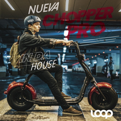 moto eléctrica loop chopper pro doble asiento