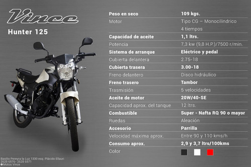 moto vince one 125