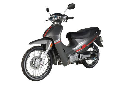 moto yumbo max 110 + casco + chaleco