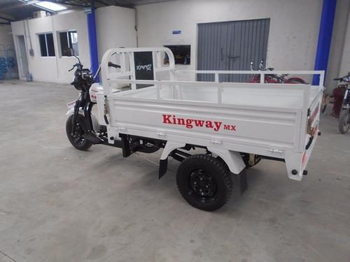 motocarro kingway 2018 caja larga 700 kg 12 meses trimoto